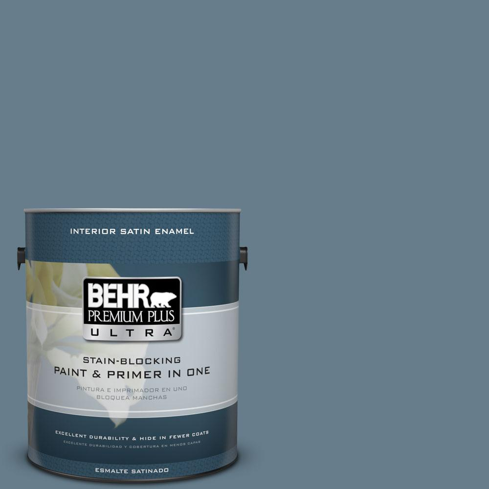 BEHR Premium Plus Ultra 1-gal. #ECC-31-1 Windy Seas Satin Enamel Interior Paint