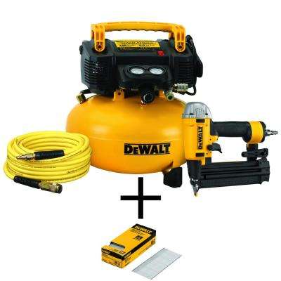 6 Gal. Heavy-Duty Pancake Electric Air Compressor and 18-Gauge Brad Nailer Combo Kit (1-Tool)