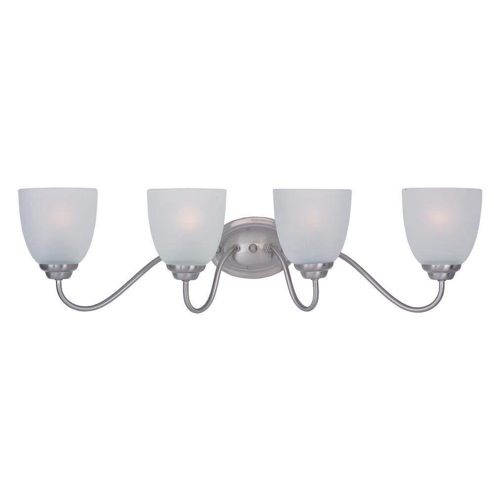 affordable bathroom lighting maxim lighting stefan 4 light satin nickel bath light 10074