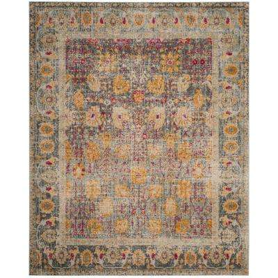 Granada Light Gray/Multi 9 ft. x 12 ft. Area Rug