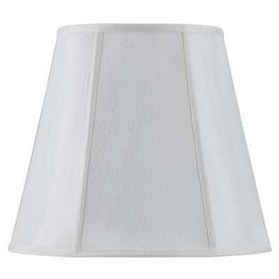 11 in. White Fabric Vertical Piped Coolie Shade