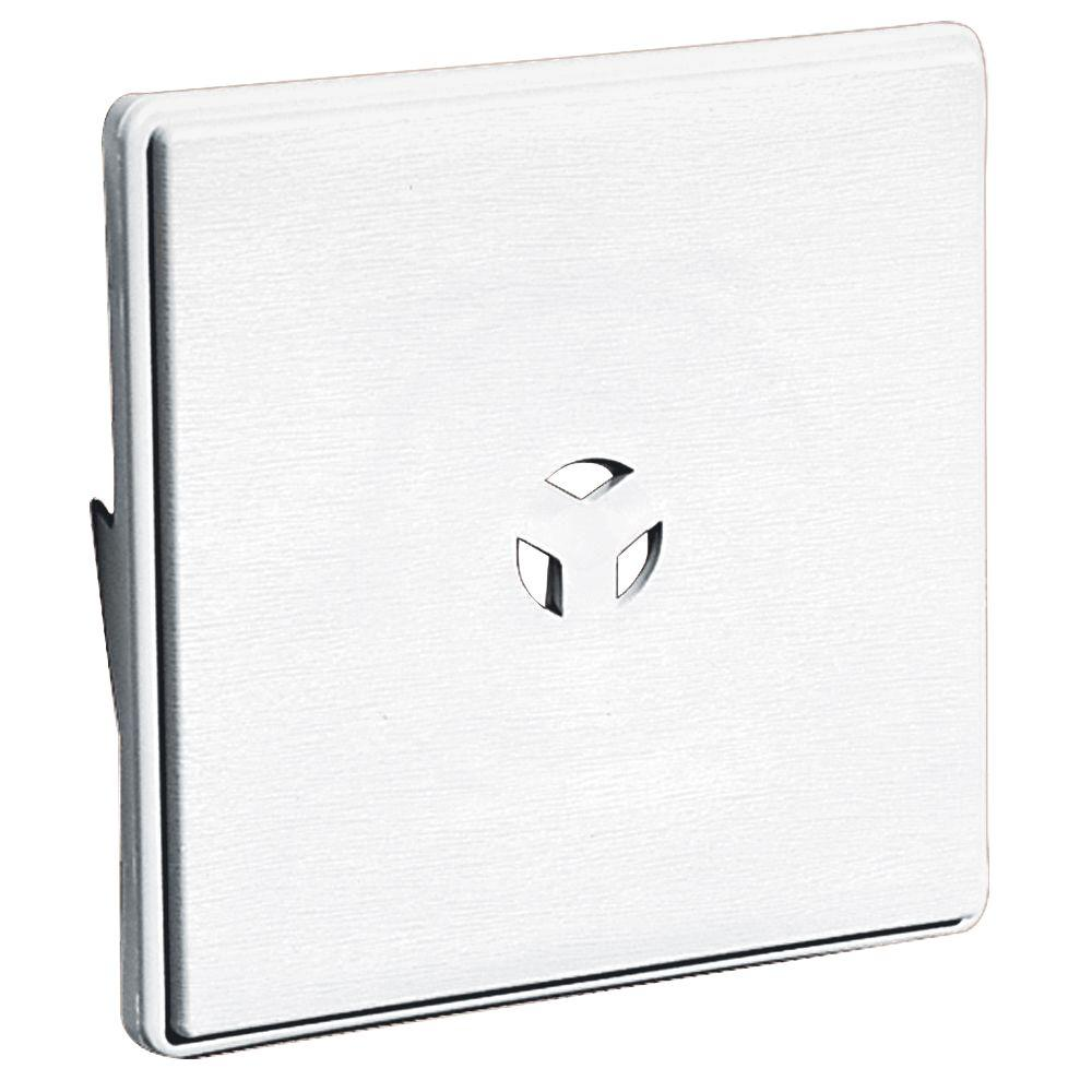 Builders Edge 6.625 in. x 6.625 in. #001 White Surface Mounting Block for Dutch Lap Siding