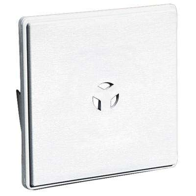 6.625 in. x 6.625 in. #001 White Surface Mounting Block for Dutch Lap Siding
