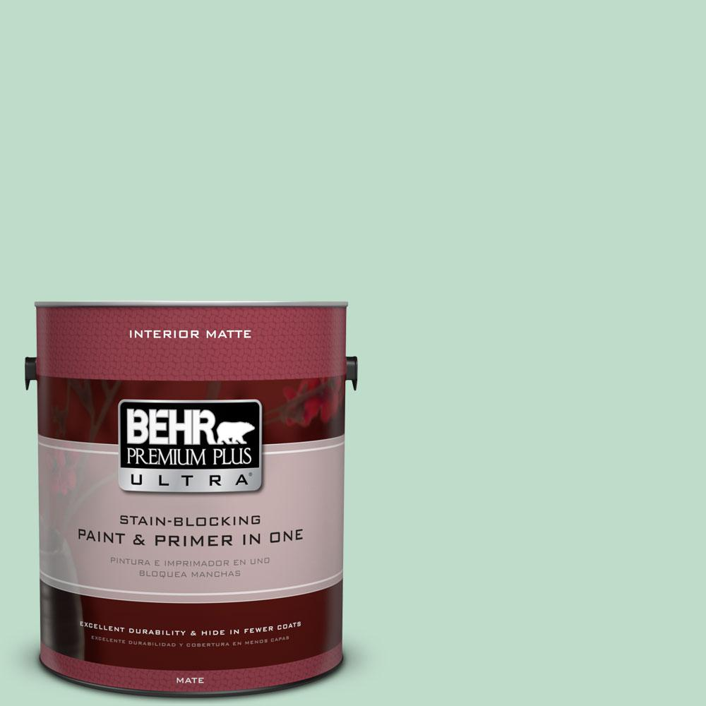 1 gal. #470C-3 Spirited Green Flat/Matte Interior Paint