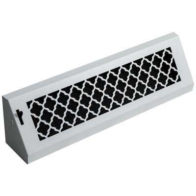 Tuscan, 18 in., White/Powder Coat, Steel Baseboard Vent with Damper