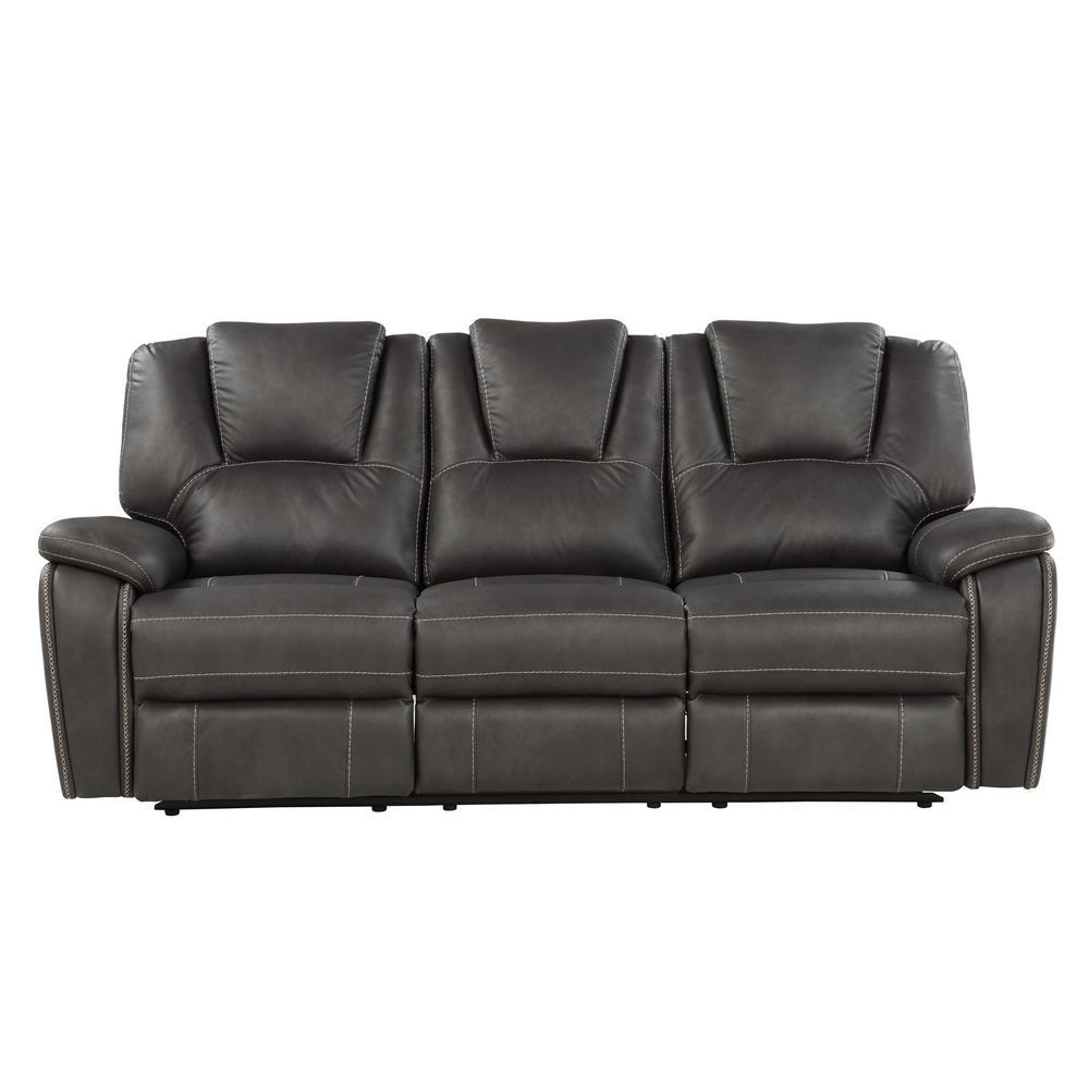 Katrine Charcoal Manual Reclining Sofa