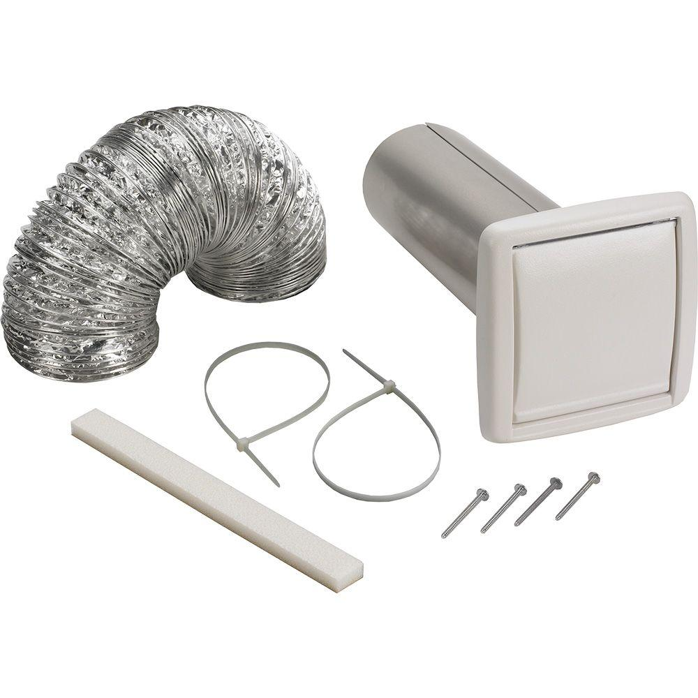 Broan wall vent ducting kit wvk2a the home depot - Bathroom exhaust fan 3 inch duct ...