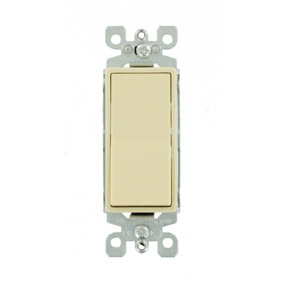 Calterm Illuminated Led 12 Volt Dc 25 Amp Rocker Switch Red 40602 Lighted Toggle Spst 25a 12v Decora 15 Ivory