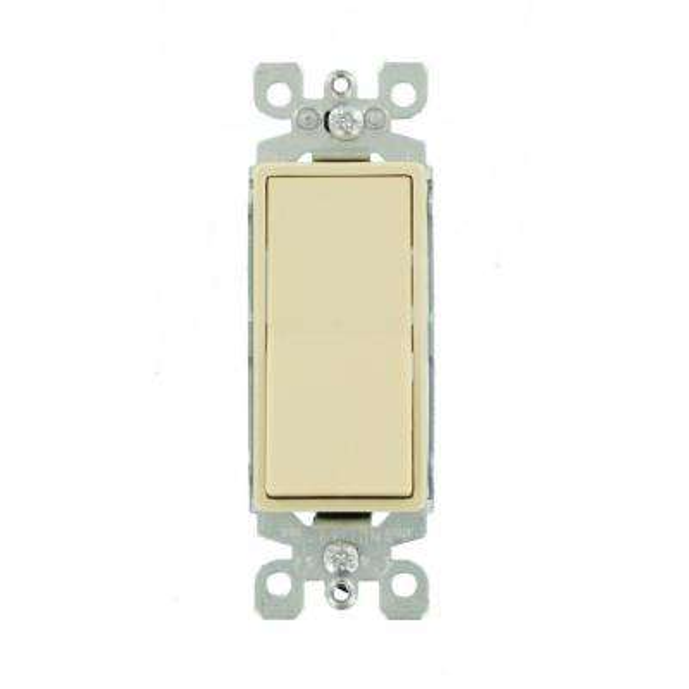 Decora 15 Amp Illuminated Rocker Switch, Ivory
