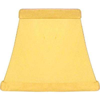 Stretch Square Yellow Pure Silk Chandelier Shade