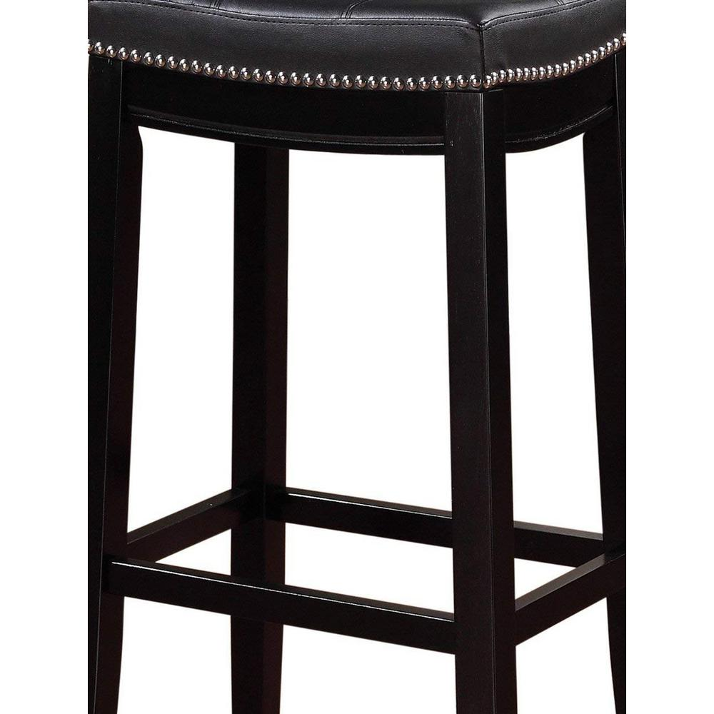 Incredible Linon Home Decor Claridge 32 In Black Cushioned Bar Stool Ocoug Best Dining Table And Chair Ideas Images Ocougorg