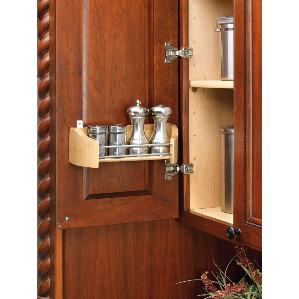 Rev-A-Shelf 3.63 in. H x 19.75 in. W x 4.25 in. D Single Cabinet Door Mount Wood Storage Tray