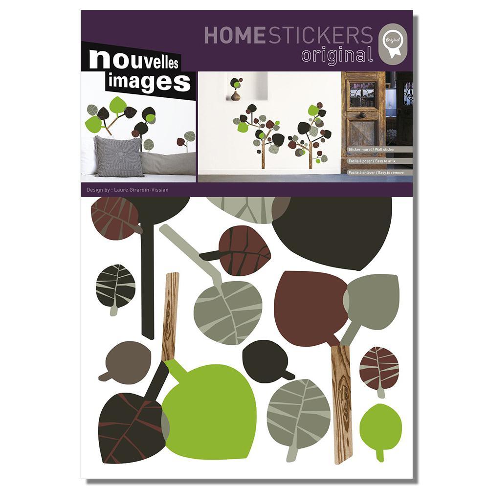 Nouvelles Images Multicolor Autumn Tree Home Sticker HOST 203