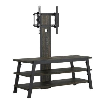 Steel River 47.244 in.W Carbon Oak TV Stand with Mount