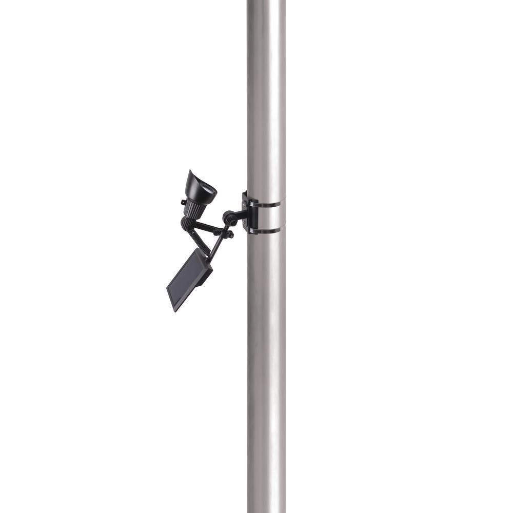 Solar Ed 50 Lumen Black Outdoor Integrated Led Adjule Flagpole Spot Light