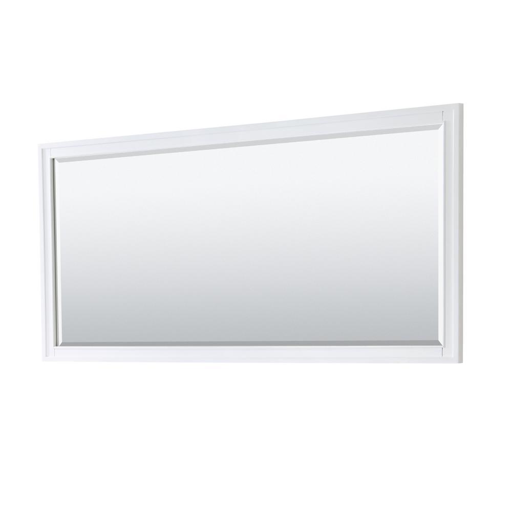 Margate 70 in. W x 33 in. H Framed Rectangular Bathroom Vanity Mirror in White