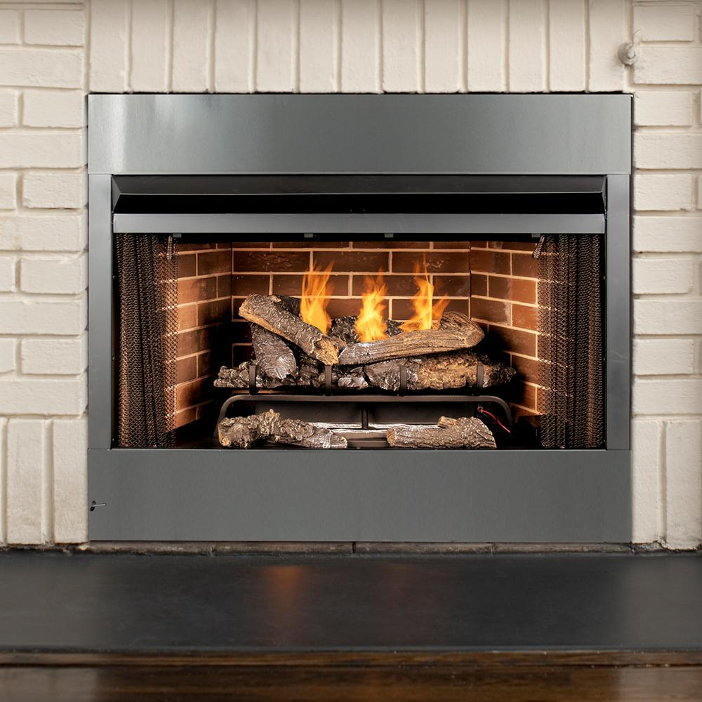 Prime Pleasant Hearth Universal Radiant Zero Clearance 42 In Ventless Dual Fuel Fireplace Insert Download Free Architecture Designs Sospemadebymaigaardcom