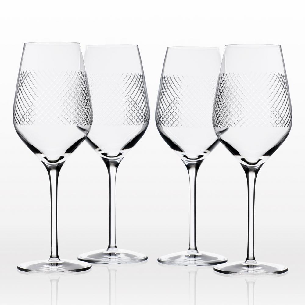 Bourbon Street 14.75 oz. Clear White Wine (Set of 4)