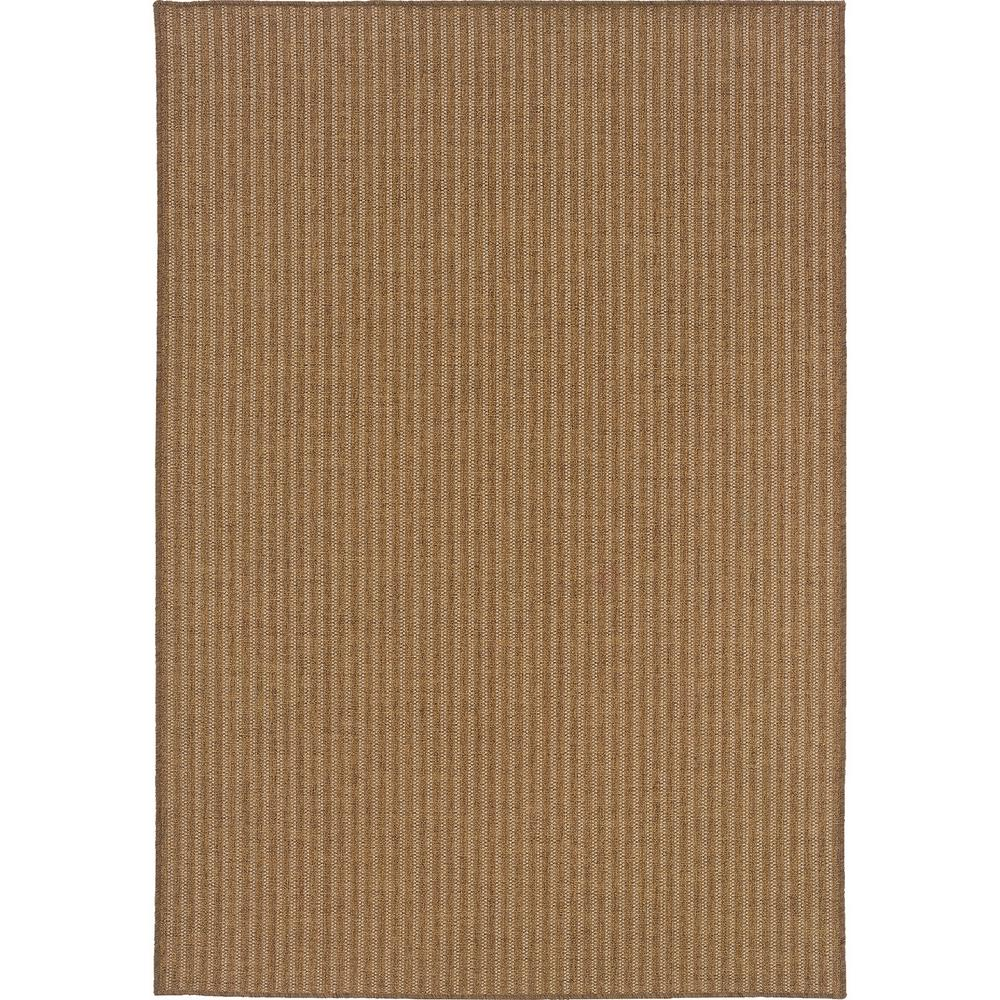 Caicos Woven Stripe Tan Light Tan 3 Ft 7 In X 5 Ft 6 In