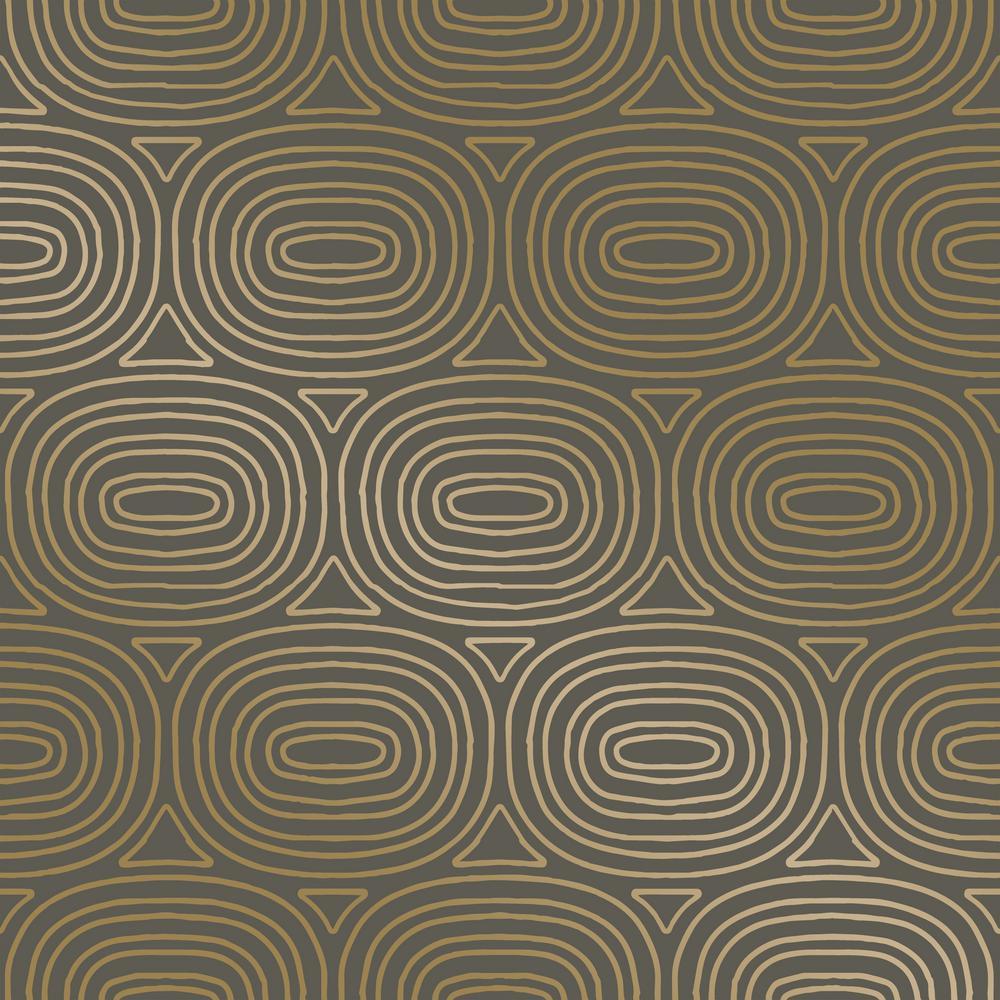 Tempaper Wallpaper: Tempaper Novogratz Ovals Gold Self-Adhesive Removable