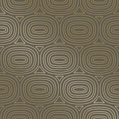 Novogratz Ovals Gold Self-Adhesive Removable Wallpaper