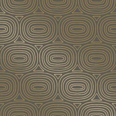 Novogratz Ovals Gold Self Adhesive Removable Wallpaper