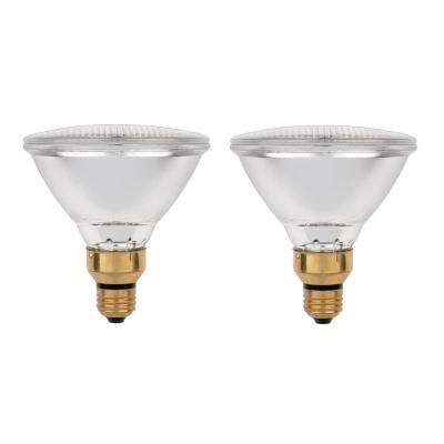 38-Watt Halogen PAR38 Eco-PAR Clear Flood Medium Base Reflector Light Bulb (2-Pack)
