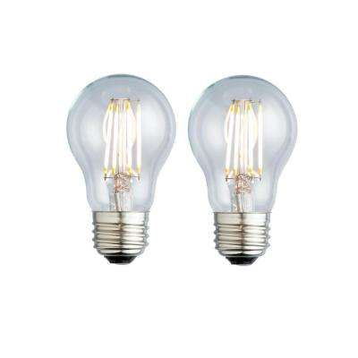 40W Equivalent Warm White A17 Clear Lens Nostalgic LED Light Bulb (2-Pack)