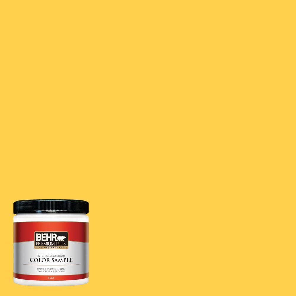 8 oz. #360B-6 Flame Yellow Interior/Exterior Paint Sample
