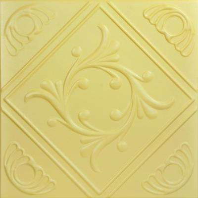 Diamond Wreath 1.6 ft. x 1.6 ft. Foam Glue-up Ceiling Tile in Concord Ivory