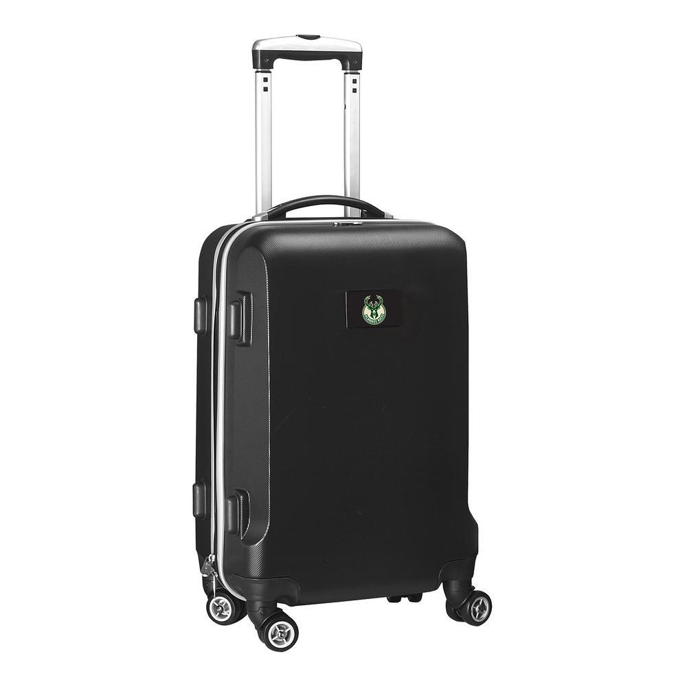 NBA Milwaukee Bucks Black 21 in. Carry-On Hardcase Spinner Suitcase