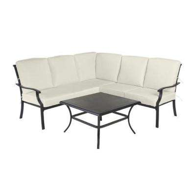 Redwood Valley 4-Piece Outdoor Sectional Set with Coffee Table and Cushions Included, Choose Your Own Color