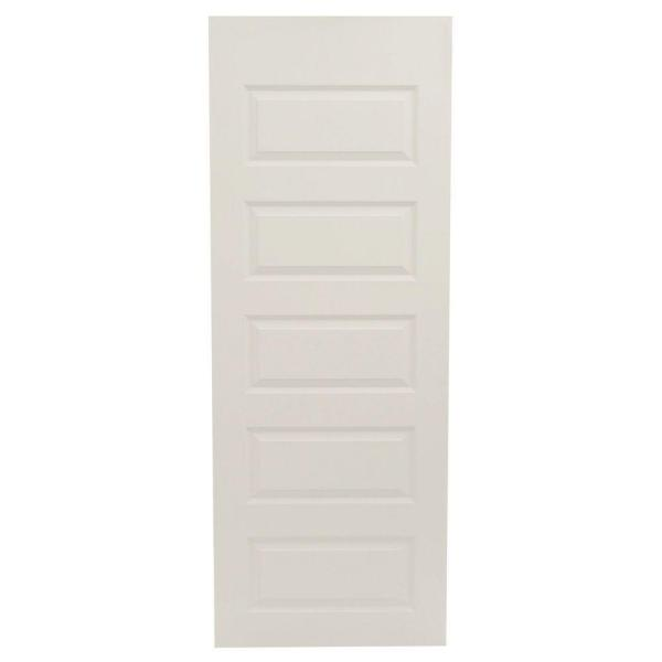 30 in. x 80 in. Rockport Primed Smooth Molded Composite MDF Interior Door Slab