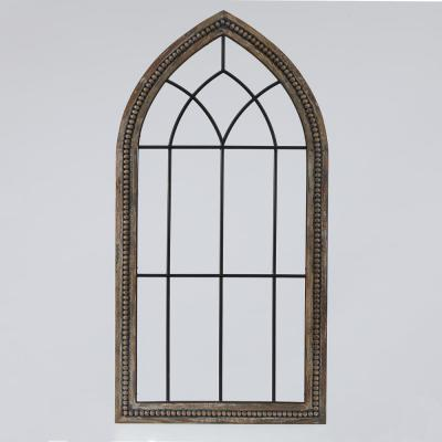 Wood & Metal Cathedral Wall Decor
