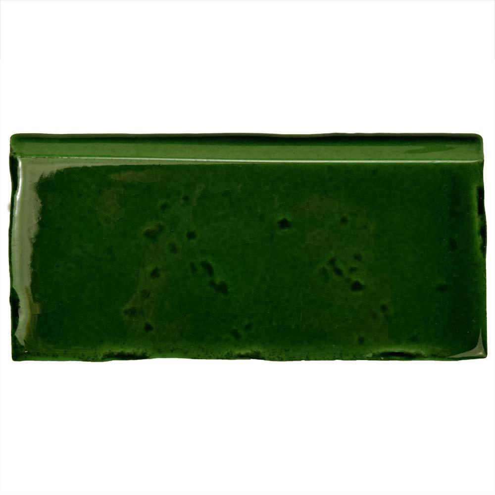 Novecento Zocalo Verdin 2-1/2 in. x 5-1/8 in. Ceramic Wall Trim Tile