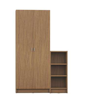 Greenwich 2-Piece Maple Cream Bookcase 9-Wide and Narrow Shelves with 2-Wide Doors