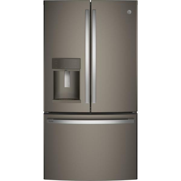 Profile 27.8 cu. ft. French Door Refrigerator with Hands-Free Autofill in Slate, Fingerpint Resistant