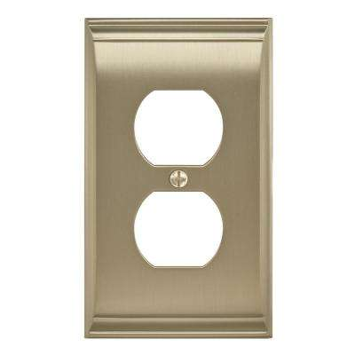 Candler 1 Receptacle Golden Champagne Wall Plate