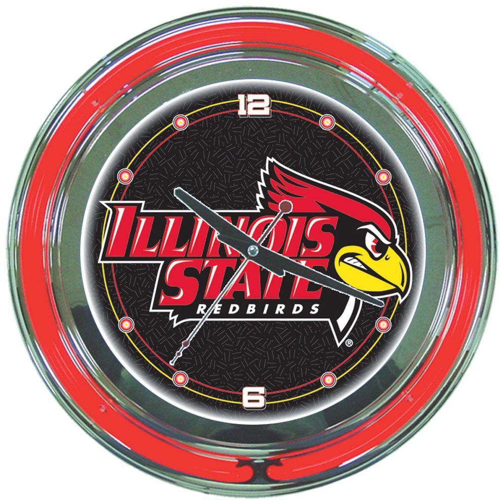Trademark Global 14 In Illinois State University Neon Wall Clock