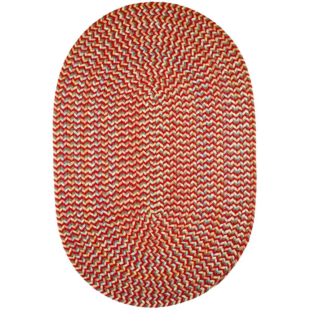 Rhody Rug Revere Brilliant Red 3 Ft. X 5 Ft. Oval Indoor