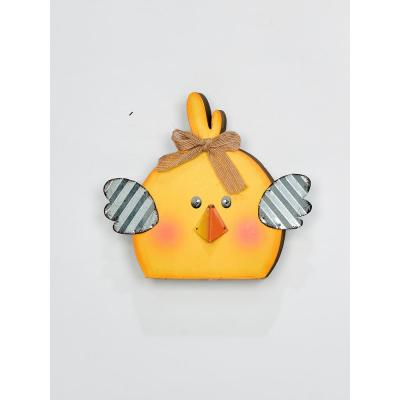 7 in. Wood and Metal Chick (Set of 3)