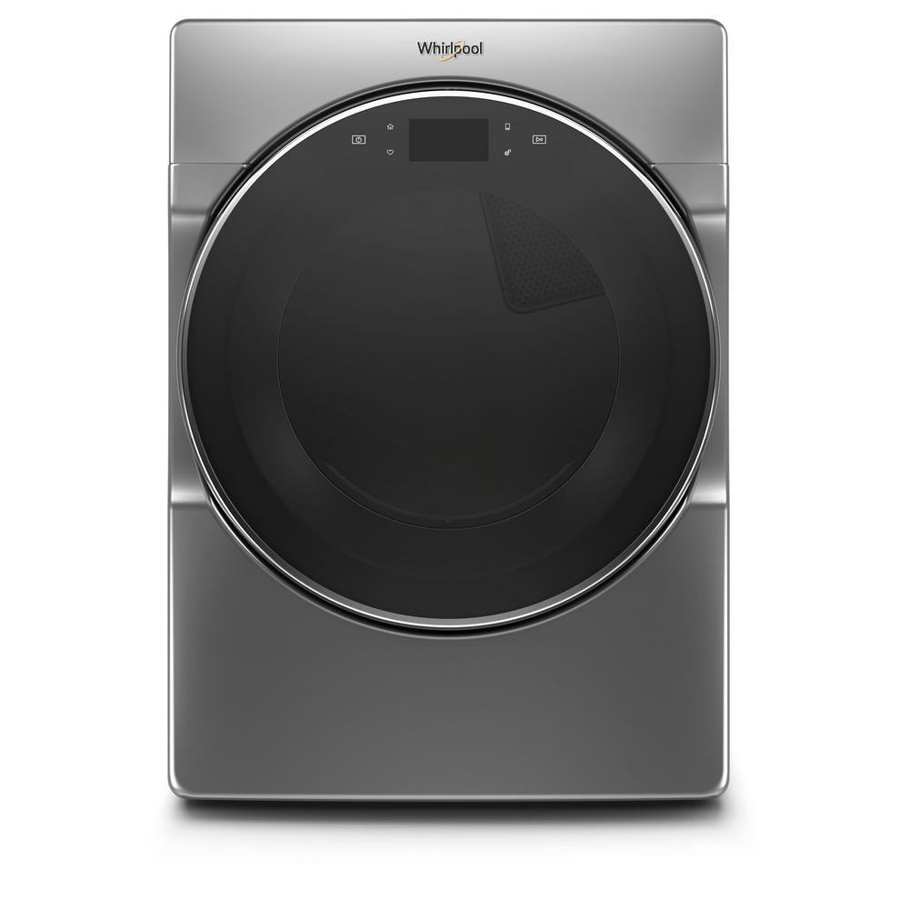 Whirlpool 7.4 cu. ft. 240-Volt Chrome Shadow Stackable Smart Electric Vented Dryer with Remote Start, ENERGY STAR