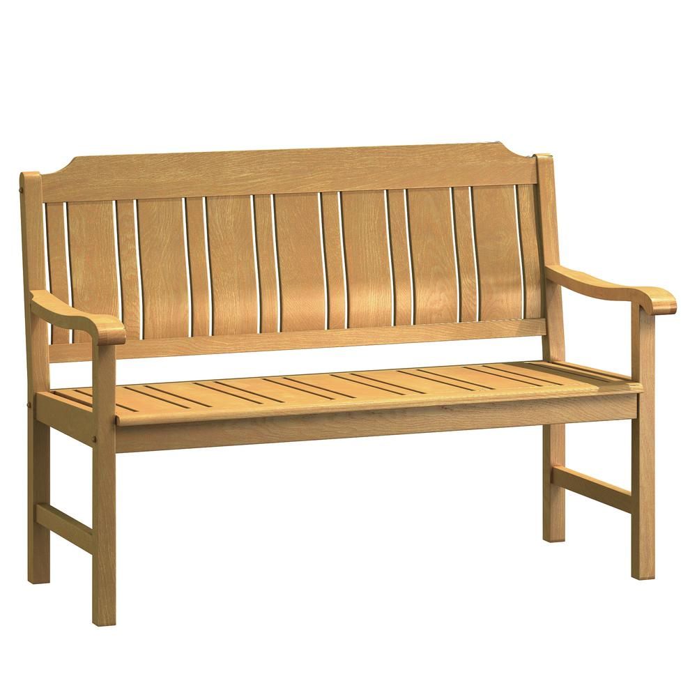 Pleasing Natural White Oak Wood Outdoor Bench Home Interior And Landscaping Ferensignezvosmurscom