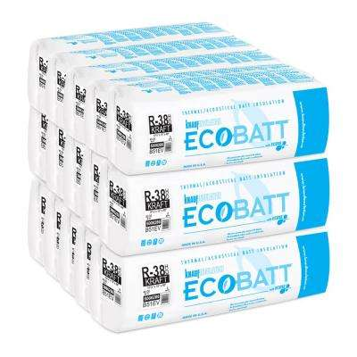 R-38 EcoBatt Kraft-Faced High Density Fiberglass Insulation Batt 10-1/4 in. x 15 in. x 48 in. (15-Bags)