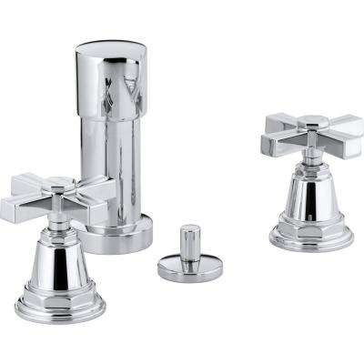 Pinstripe 2-Handle Bidet Faucet in Polished Chrome