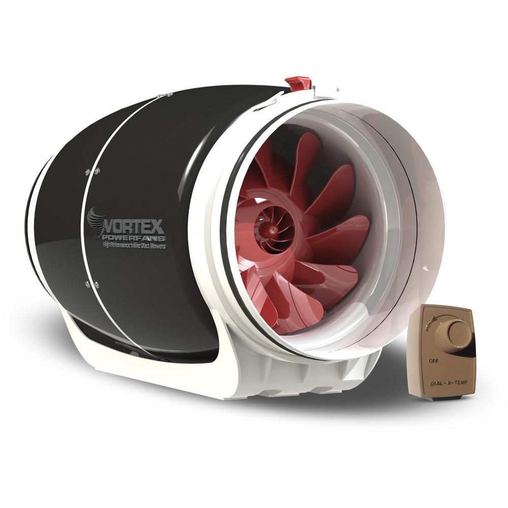 Powerfan S-Line 8 in. 711 CFM Inline Fan with Dial-A-Temp Kit