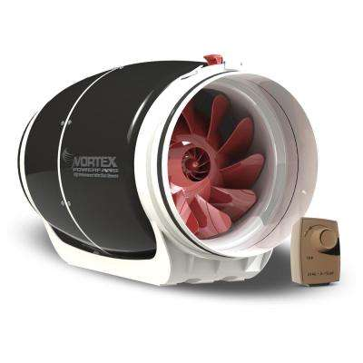 Powerfan S-Line 8 in. 711 CFM Inline Fan with Dial-A-Temp Kit