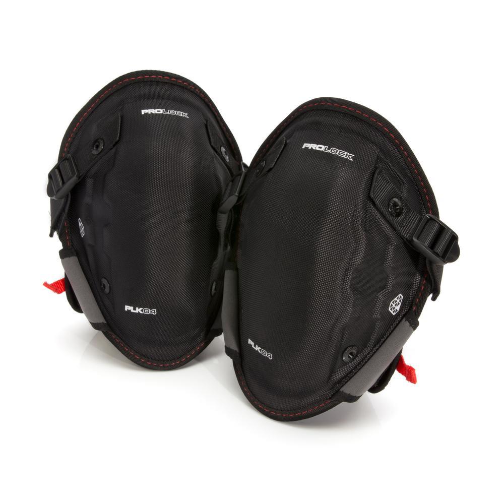 PROLOCK Professional Black Gel Abrasion Resistant Safety Knee Pads
