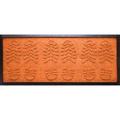 Orange 15 in. x 36 in. Lug Sole Boot Tray
