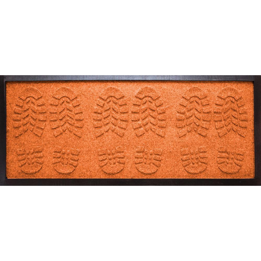 Orange 15 in. x 36 in. Lug Sole Boot Tray